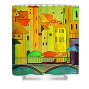 Far Away Places  Shower Curtain
