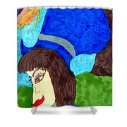 Far Away Thoughts Shower Curtain
