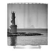 Far De La Savina Lighthouse, Formentera Shower Curtain
