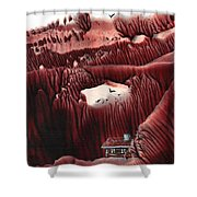 Far From The Road Shower Curtain