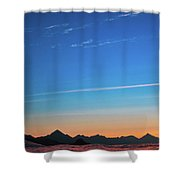 Far Mountains Shower Curtain