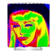 Far Out Felice Shower Curtain