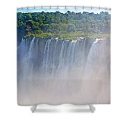 Far Side Of Devil's Throat In Iguazu Falls National Park-argentina   Shower Curtain