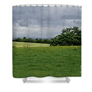 Faraway Rain. Shower Curtain