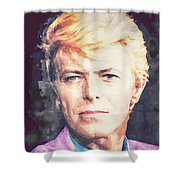 Farewell David Bowie Shower Curtain
