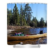 Farewell To Hope Lake Shower Curtain
