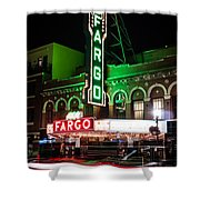 Fargo Nd Theatre At Night Picture Shower Curtain