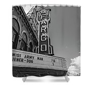 Fargo Theater Sign Black And White  Shower Curtain