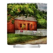 Farm - Barn - A Small Farm House  Shower Curtain