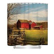 Farm - Barn - I Bought The Farm Shower Curtain