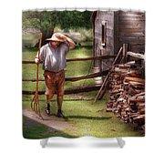 Farm - Farmer - Chores Shower Curtain