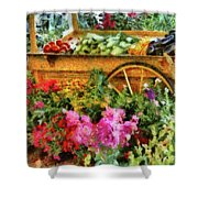 Farm - Food - At The Farmers Market Shower Curtain