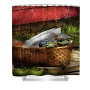 Farm - Laundry  Shower Curtain by Mike Savad