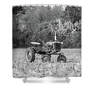 Farm All In  Corn Field Blsck And White Shower Curtain