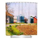 Farm Around The Corner Shower Curtain