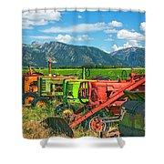 Farm  Art Tractors Shower Curtain