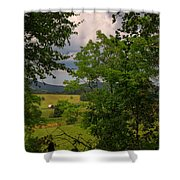 Farm Before The Storm Shower Curtain