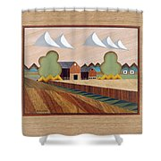 Farm By Ripon-marquetry Shower Curtain