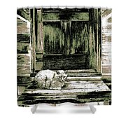 Farm Cat Shower Curtain