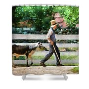 Farm - Cow -the Farmer And The Dell  Shower Curtain