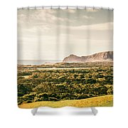 Farm Fields To Seaside Shores Shower Curtain