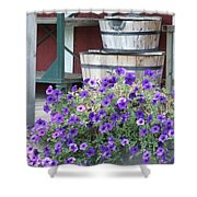 Farm Flowers Shower Curtain