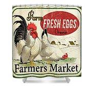 Farm Fresh Eggs-b Shower Curtain