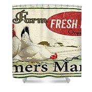 Farm Fresh Eggs-c Shower Curtain