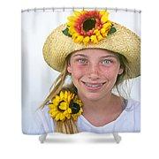 Farm Girl Shower Curtain