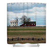 Farm House And Barn Shower Curtain