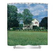 Farm House And Spring Field, Maryland Shower Curtain