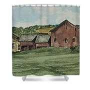 Farm In Summer Shower Curtain