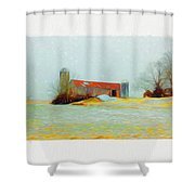 Farm In The Country Shower Curtain