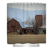 Farm In The Foothills Shower Curtain