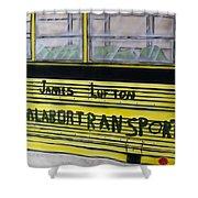 Farm Labor Bus Shower Curtain