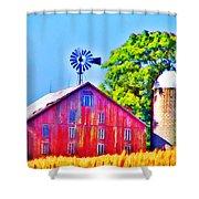 Farm Near Gettysburg Shower Curtain