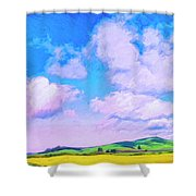Farm Near San Luis Obispo Shower Curtain