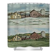Farm Of Seasons Shower Curtain