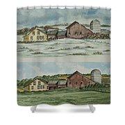 Farm Of Seasons Shower Curtain