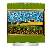 Farm On Hwy 28 Framed  Shower Curtain