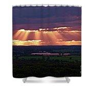 Farm Rays Shower Curtain