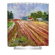 Farm Rows Shower Curtain