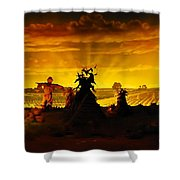 Farm Scape Shower Curtain