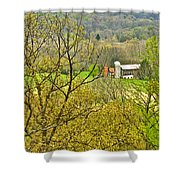 Farm Seen From Culp Hill Lookout In Gettysburg National Military Park-pennsylvania Shower Curtain