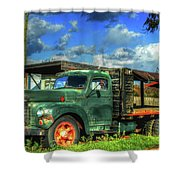 Farm Stand Truck Shower Curtain