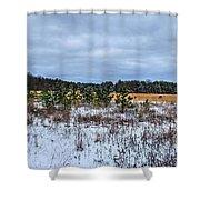 Old Farm Field Li.ny Shower Curtain