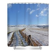 Farm Track To Round Law And King's Seat Shower Curtain