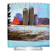 Farm Up Yander Shower Curtain