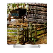 Farm Wagon Shower Curtain
