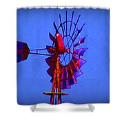 Farm Windmill Shower Curtain